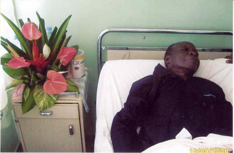 September 2008 - Admiited in the Reference Hospital Douala